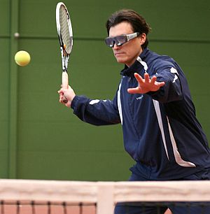 Tennis, Sportbrille. Foto: Flickr/SMI Eye Tracking