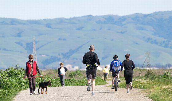 Joggen, Laufen, Radfahren, Jogging. Foto: Flickr/donjd2