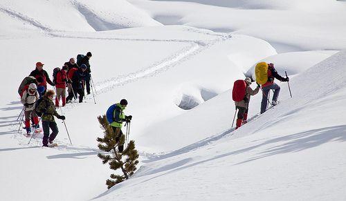 Wandern im Schnee. Foto: Flickr/alh1