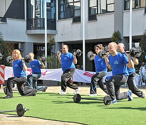 Body Pump. Kniebeuge. Beine. Foto: Flickr/FaceMePLS