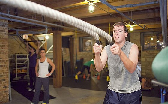 Rope Workout. Wilde Seile